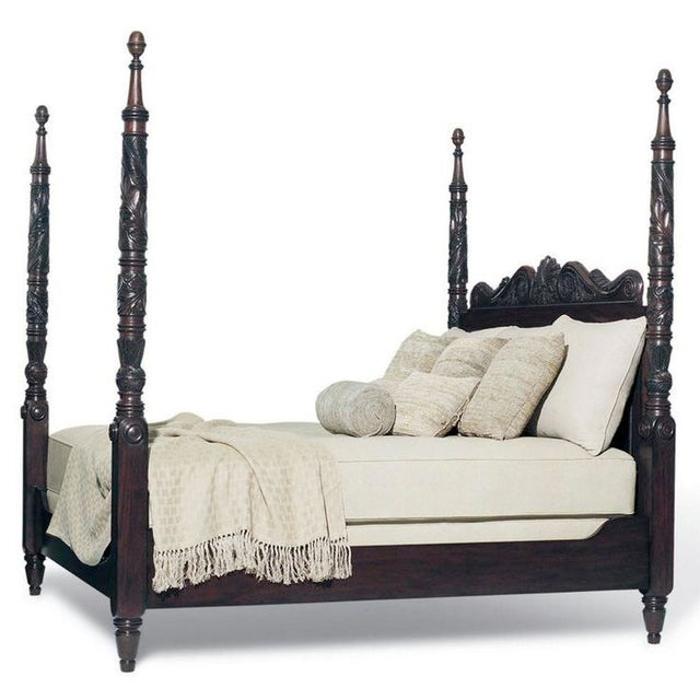 Wood Ralph Lauren Safari Four-Post Mahogany King Bed For Sale - Image 7 of 7