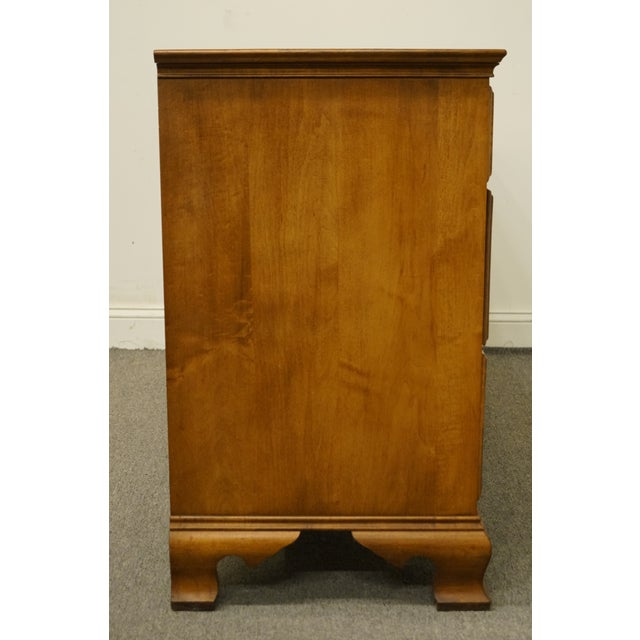 "Statton Trutype Americana Solid Maple Colonial Style 56"" Double Dresser For Sale - Image 11 of 13"