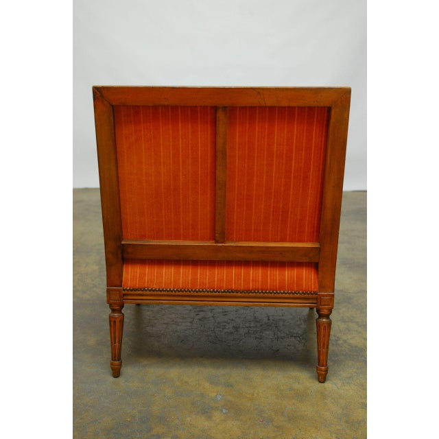 French Louis XVI Style Marquise Armchair - Image 6 of 7
