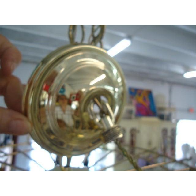 Vintage Round Lucite Chandelier - Image 5 of 8