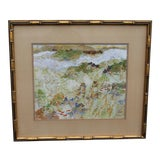 Image of Mid-Century Detailed Watercolor Painting For Sale