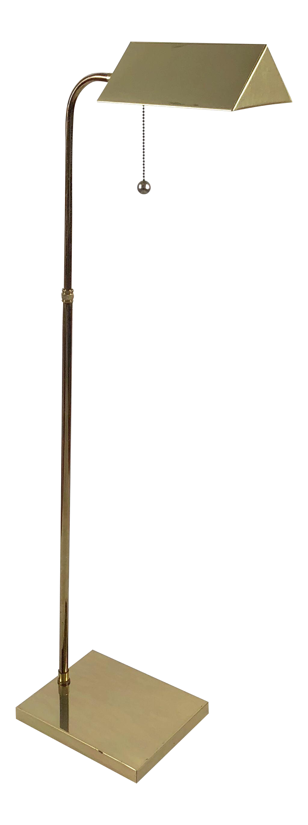 Adjustable Mid Century Brass Pharmacy Floor Lamp