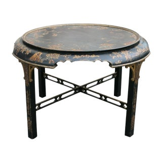 1920s Vintage Georgian Style Japanned Low Table For Sale