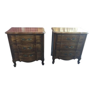 French Provincial Nightstands a Pair Thomasville