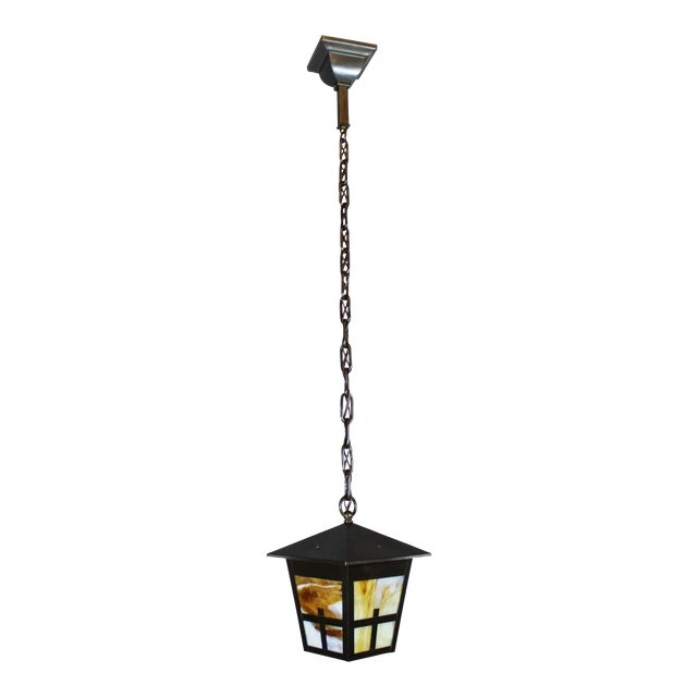 Arts & Crafts Mission Lantern Pendant Fixture - Image 1 of 6