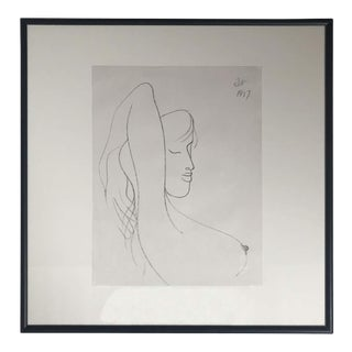 Drawing #5 of a Young Girl Bust by Albert Radoczy #5 For Sale