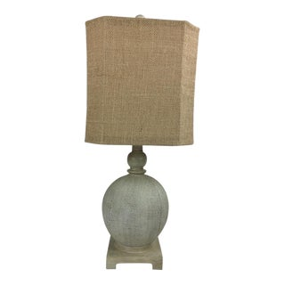 Shabby Chic Textured Lamp & Shade For Sale