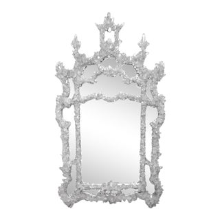 Marjorie Skouras Chinese Chippendale Style Sultana Quartz Mirror For Sale