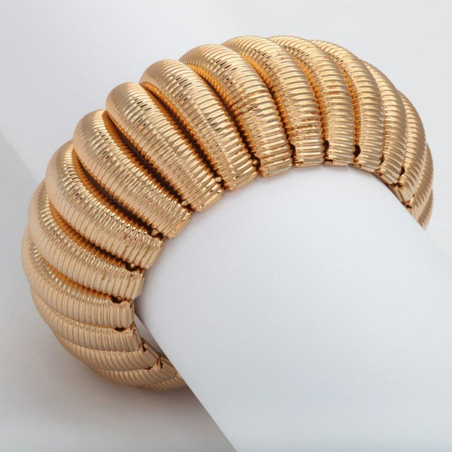 """Gold"" Segmented Cuff For Sale - Image 4 of 6"
