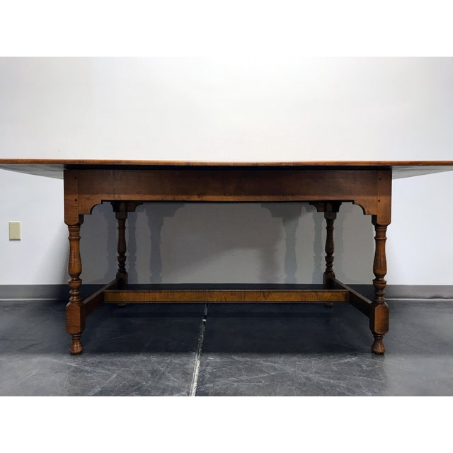 Americana JL Treharn Tiger Maple Mission Shaker Amish Style Farmhouse Dining Table For Sale - Image 3 of 11