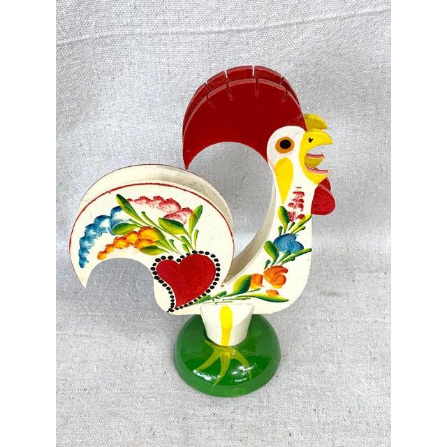 White Vintage Rooster Napkin Holder For Sale - Image 8 of 8