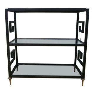 Art Deco Global Views Greek Key Bar Cart/Etagere For Sale