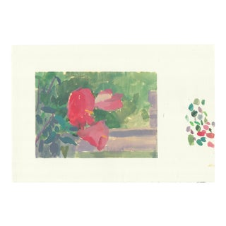 Michelle Farro Red Hibiscus Painting For Sale
