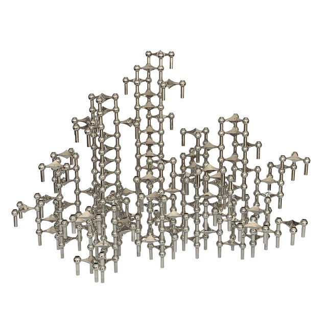 Modular Candlestick Sculpture by Fritz Nagel and Caesar Stoffi - Set of 100 Pieces For Sale