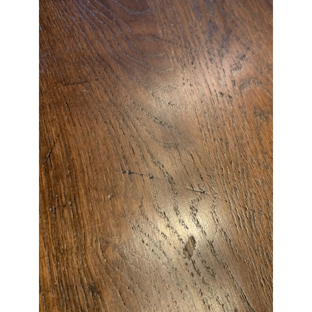 Brown Antique Primitive Dining Table For Sale - Image 8 of 10