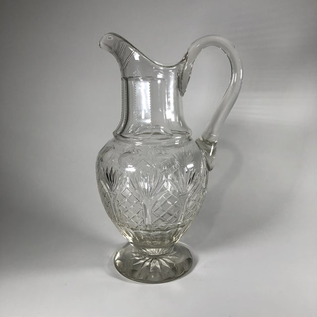 Transparent Early 19th Century Georgian Anglo-Irish Cut Crystal Champagne Pitcher For Sale - Image 8 of 8