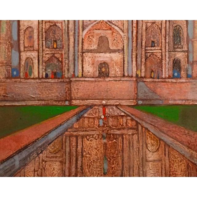 Taj Mahal Watercolor - Image 2 of 2