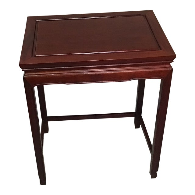 1900s Chinese Mahogany Handmade Side Table For Sale