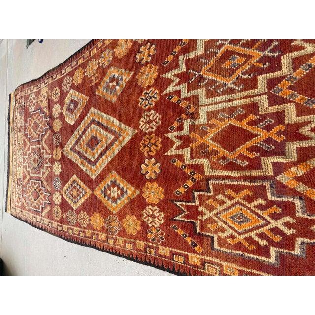 Moroccan Moroccan Vintage Hand-woven Marrakech Tribal Rug, circa 1960 For Sale - Image 3 of 13