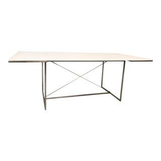 Acrylic (Glow Acrylic) & Steel Dining Table