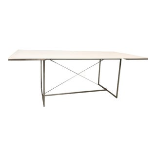 """GlowAcrylic"" & Steel Dining Table"