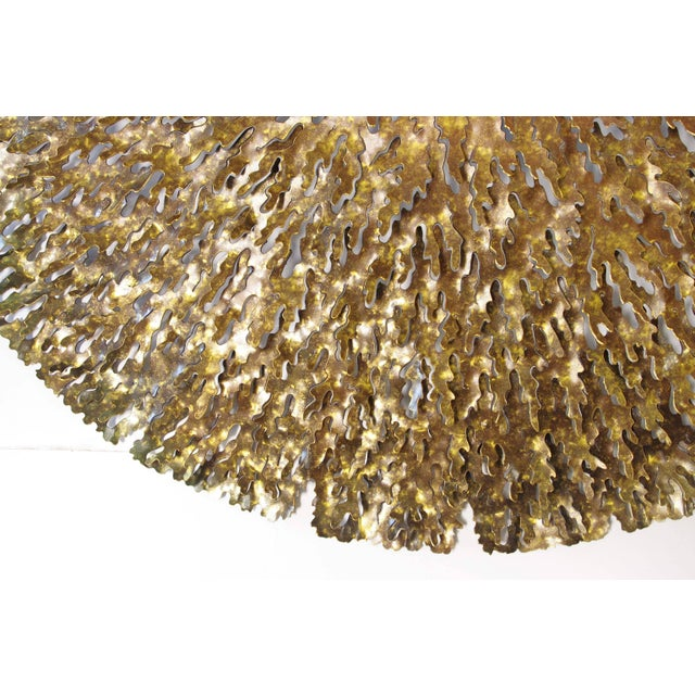Fabio Ltd Bronze and Gold Iron Seaweed Wall Sculpture For Sale - Image 4 of 6