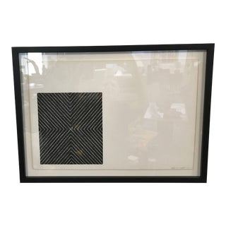 "Frank Stella 1967 ""Black Series Ii"" Lithograph Print For Sale"