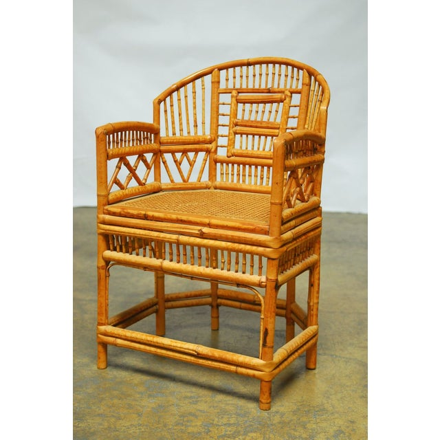 Bamboo Brighton Pavillion Style Armchair - Image 3 of 9