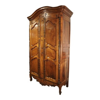 Antique Walnut Wood Armoire, Fourques Circa 1820 For Sale