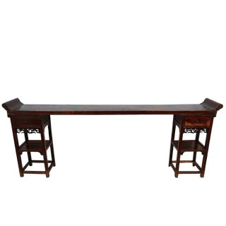 Chinese Antique Open Carved Altar Table/Console For Sale