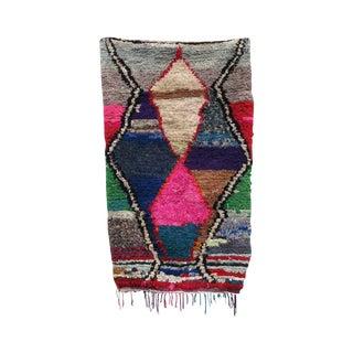 "Pink & Tan Moroccan Boucherouite Rag Rug 3' 5""x 6'"