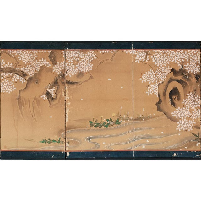 Early 18th Century 17th-18th C. Japanese Twelve-Panel Byobu Screen For Sale - Image 5 of 13