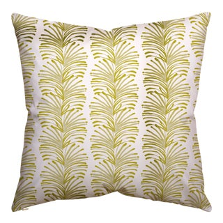 Pepper Emma in Chartreuse Euro Sham For Sale