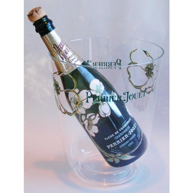 Transparent Vintage Perrier Jouët Champagne Wine French Bucket Chiller For Sale - Image 8 of 10