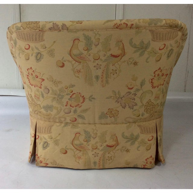 English Sofa, Manner of George Smith, Custom Upholstered in Bennison Linen - Image 7 of 7
