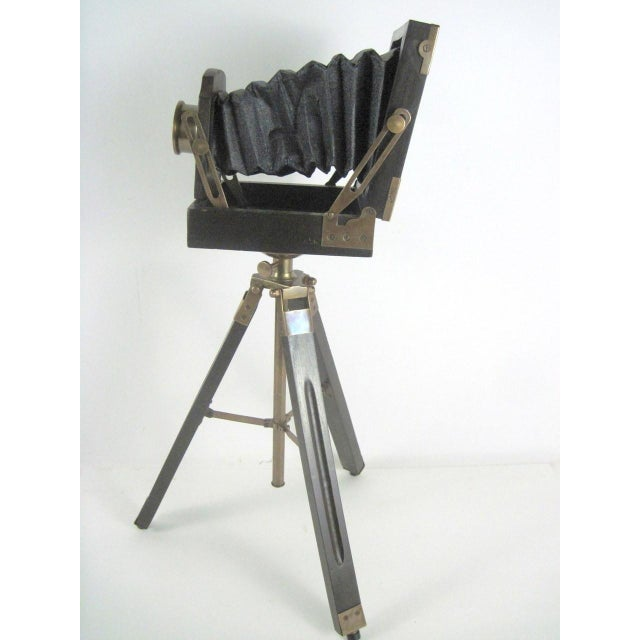 Brass And Wood Tripod Replica 1800's Box Camera - Image 4 of 9