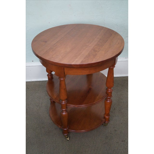 Arts & Crafts Harden Round 3-Tier Side Table For Sale - Image 3 of 10