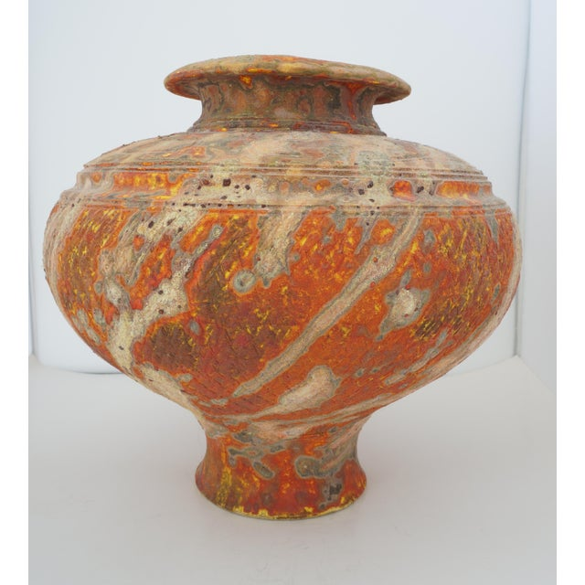 Paper Vintage Peter Andersson Australia Glazed Earthenware Artisan Pot or Vase With Papers For Sale - Image 7 of 11