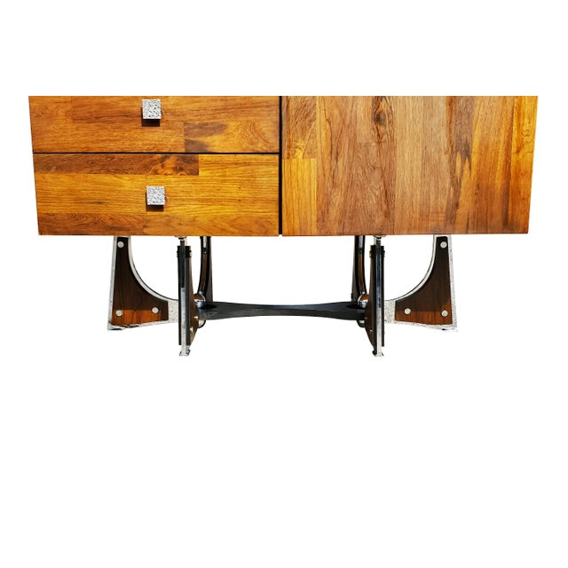 A Mid-Century Modern - Brutalist - Space Age - Wardrobe - Armoire by Henri Valliere For Sale In Portland, ME - Image 6 of 10