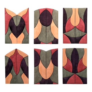1980s Contemporary Upholstered Ultrasuede Panels / Screens, Set of 3 For Sale