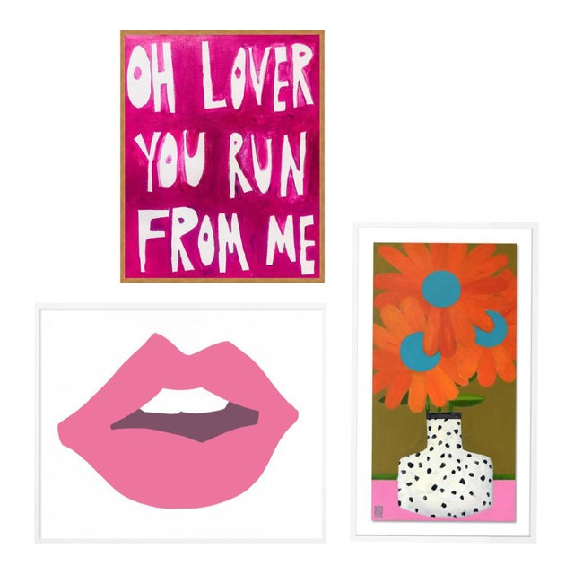 Young Love Gallery Wall, Set of 3 For Sale