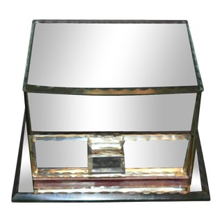 French Vintage Mirrored Jewelry Box For Sale