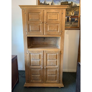 Collection Repro.- Solid Oak Highboy Armoire Preview