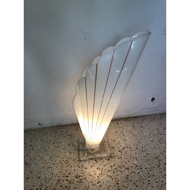 Art Deco Lucite Table Lamp Styled After Rougher For Sale - Image 3 of 11