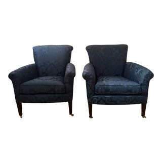 Scalamandre Upholstered Club Chairs - a Pair