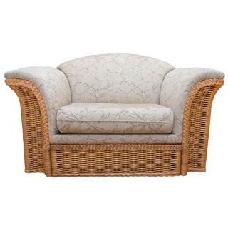Mid-Century Modern Wicker Chair For Sale