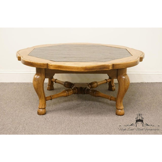 """Thomasville Furniture Chateau Provence Collection 42"""" Slate Top Coffee Table For Sale In Kansas City - Image 6 of 11"""