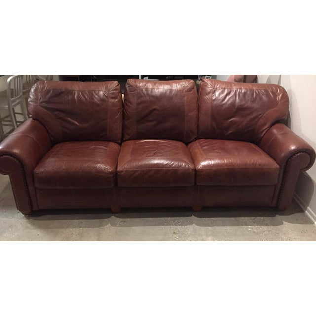 Stickley Santa Fe Leather Sofa Chairish