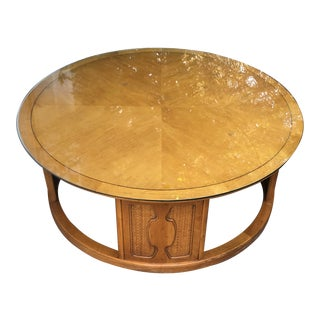 1960s Mid-Century Modern John Van Koert for Drexel Meridian Round Coffee Table For Sale