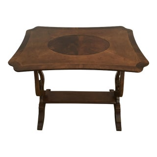 Hekman Inlay Side Table For Sale
